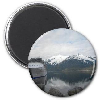 Cruise Ship Docked in Skagway Alaska Magnets