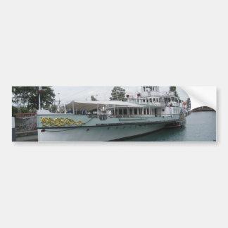 Cruise ship for leisure trip on Lake Thun Bumper Stickers