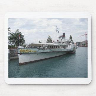 Cruise ship for leisure trip on Lake Thun Mouse Pad