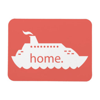 Cruise Ship Home - coral Magnet
