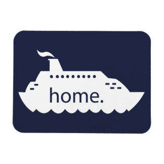 Cruise Ship Home - navy blue Magnet