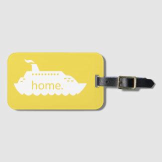 Cruise Ship Home - yellow Luggage Tag