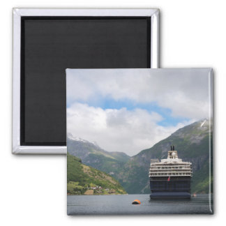 Cruise ship in Geirangerfjord magnet