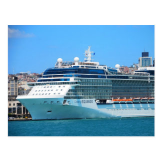 Cruise ship in Istanbul Postcard