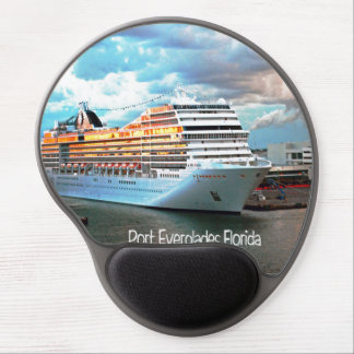 Cruise ship in Port Everglades Gel Mouse Pad