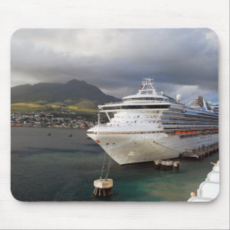 Cruise ship in port mouse pad