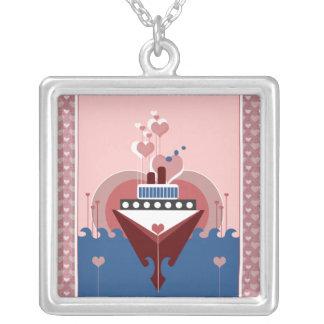 Cruise Ship Love Silver Pendant Necklace