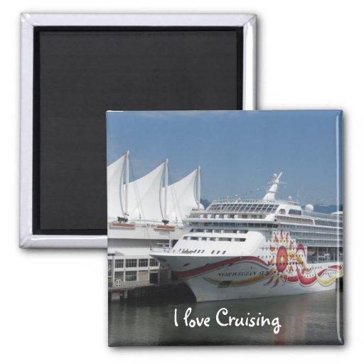 Cruise Ship Refrigerator Magnet