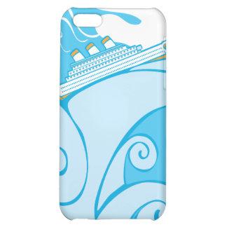 Cruise Ship on a Tsunami iPhone 5C Covers