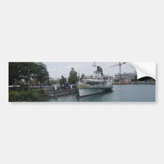 Cruise ship on Lake Thun berthed at Interlaken Bumper Sticker