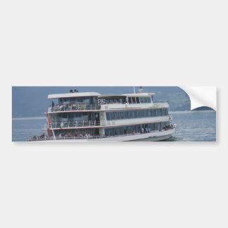 Cruise ship on Lake Thun in Switzerland Bumper Stickers