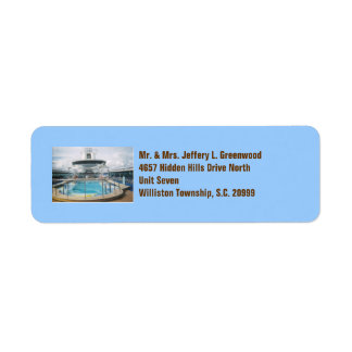 Cruise Ship Pool Labels
