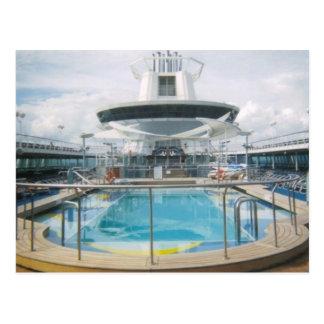 Cruise Ship Pool Postcard
