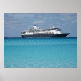 cruise ship print