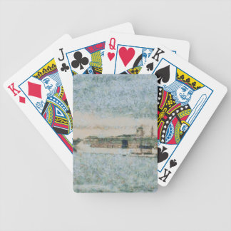 Cruise ship ready for voyage bicycle poker deck
