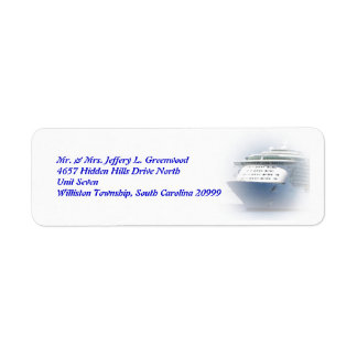 Cruise Ship Return Address Return Address Label