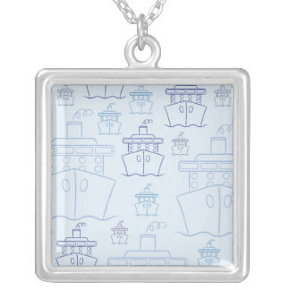 Cruise ship silver plated necklace