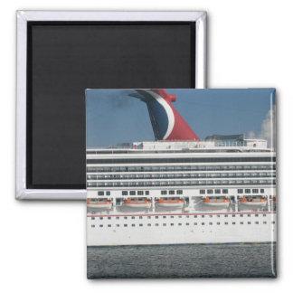 Cruise ship square magnet