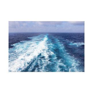 Cruise ship wake canvas print