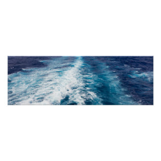 Cruise ship wake poster