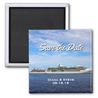Cruise Ship Wedding Favor | Nautical Save the Date Magnet