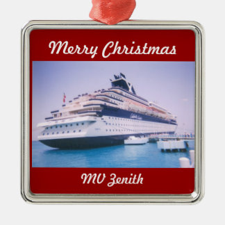 Cruise Ship Zenith Customizable Metal Ornament