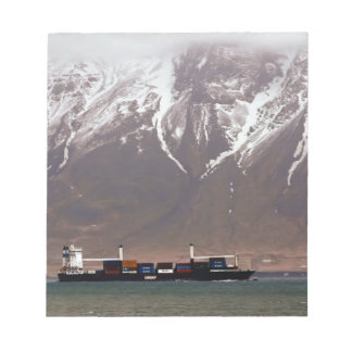 CRUISE SHIPS around SNOW MOUNTAINS America Notepad
