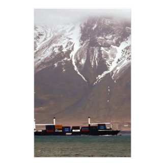 CRUISE SHIPS around SNOW MOUNTAINS America Stationery