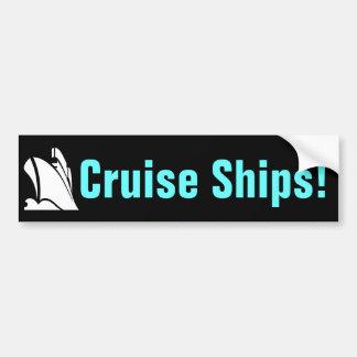 Cruise Ships Bumper Sticker