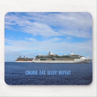 Cruise Ships Caribbean Vacation | Cruise Eat Sleep Mouse Pad