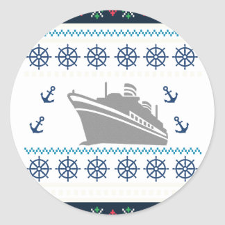 Cruise Ships Classic Round Sticker