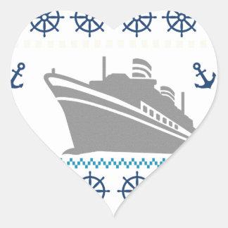 Cruise Ships Heart Sticker