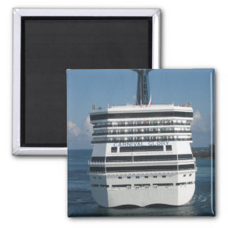 Cruise ships square magnet