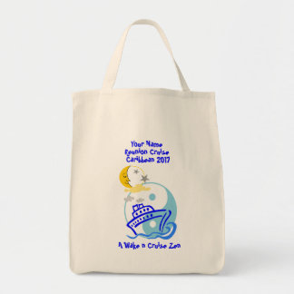 Cruise Themed Grocery Tote Bag Cruise Zen