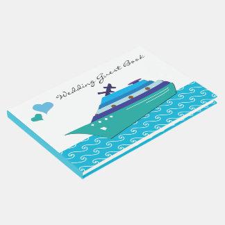 Cruise Wedding Blue Hearts Guest Book