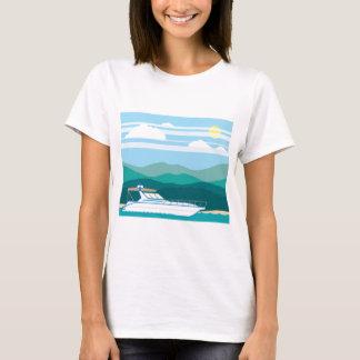 Cruiser Boat landscape shore T-Shirt