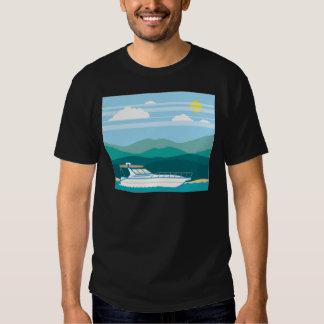 Cruiser Boat landscape shore Tshirts