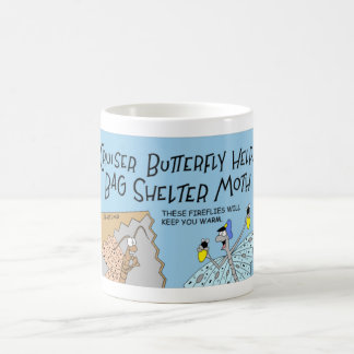 Cruiser butterfly and the bag shelter moth coffee mug
