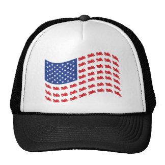 cRUISER-fLAG-wAVE Trucker Hats
