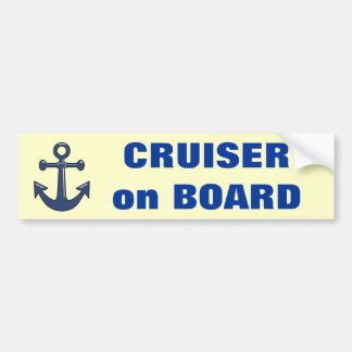 Cruiser on Board Bumper Sticker
