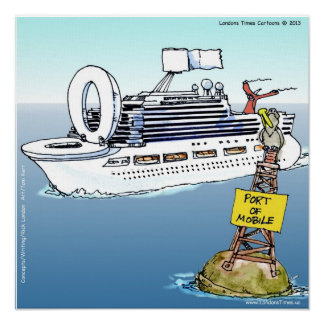 Cruises & Bathrooms Funny Poster Poster