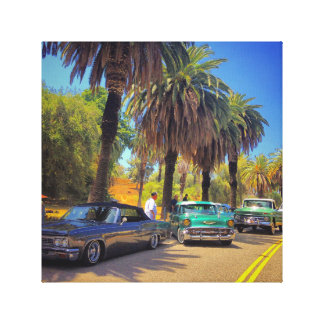 CRUISIN DOWN THE STREET STRETCHED CANVAS PRINTS