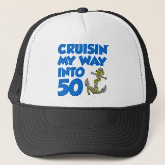 Cruisin' My Way Into 50 Trucker Hat