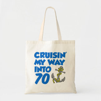 Cruisin' My Way Into 70 Tote Bag