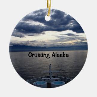 Cruising Alaska Ceramic Ornament