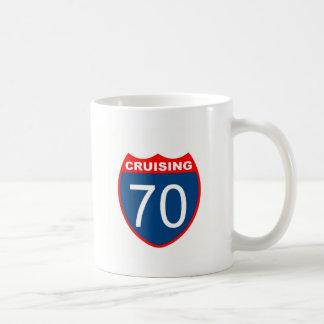 Cruising at 70 coffee mug