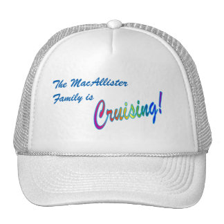 Cruising Family Personalized Cap