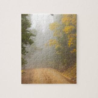 Cruising Into Autumn Fog Jigsaw Puzzle
