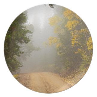 Cruising Into Autumn Fog Plate