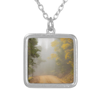 Cruising Into Autumn Fog Silver Plated Necklace
